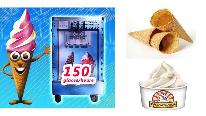 Location machine glaces à l'Italienne