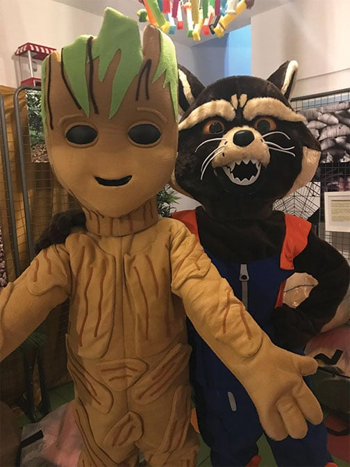 Location mascotte Groot et Rocket