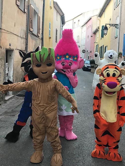 Location mascottes Groot et Rocket